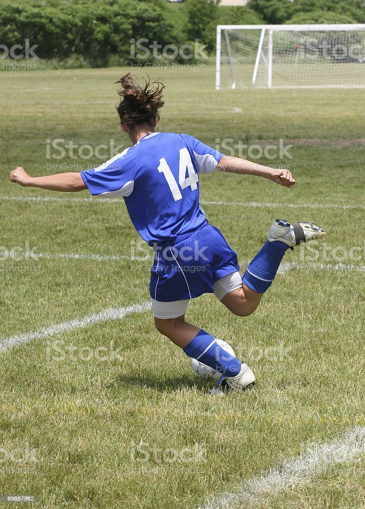 Teen Youth Soccer Player in Action royalty-free stock photo