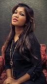 Portrait of a modern teenage Bangladeshi girl.