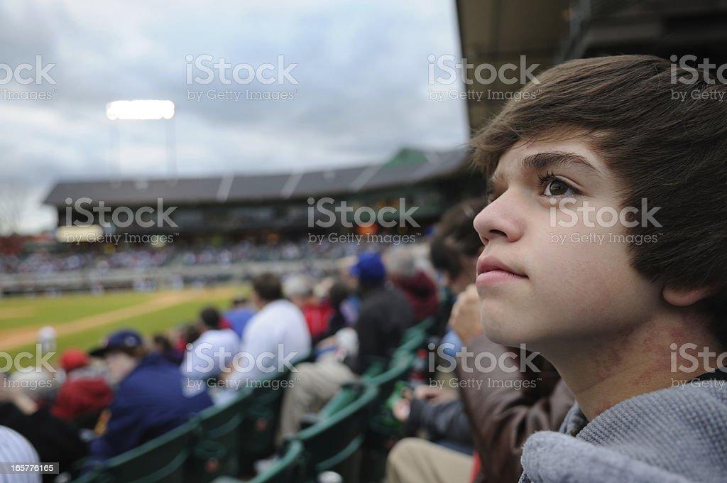Teenage Baseball Fan stock photo