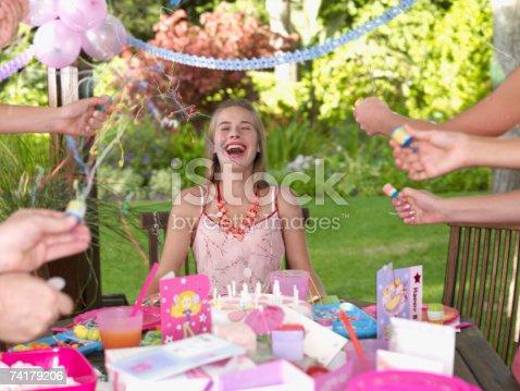 istock Teenage birthday girl laughing outdoors 74179206