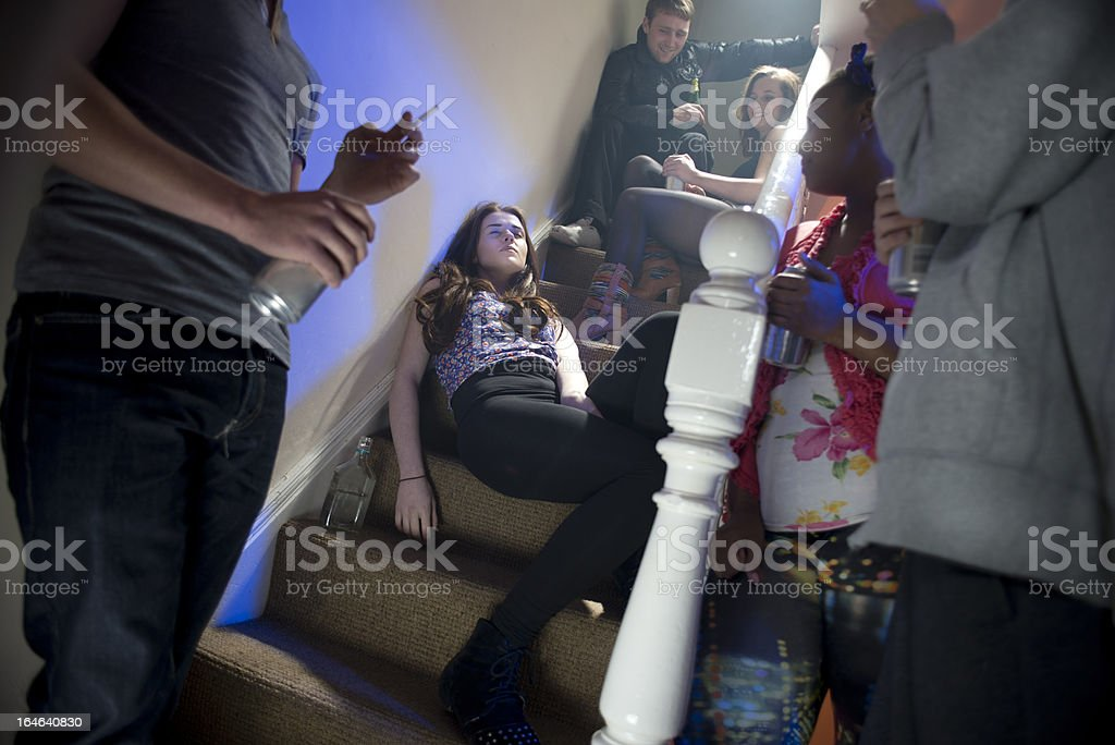 teenage booze at a house party royalty-free stock photo