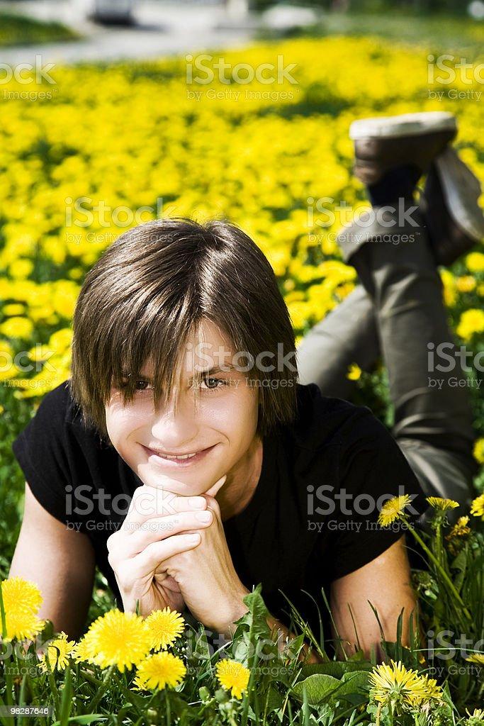 Teenage boy royalty-free stock photo