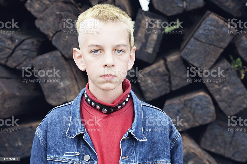 teenage boy portrait royalty-free stock photo