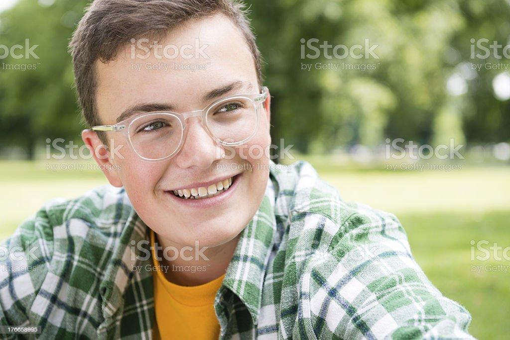 Teenage Boy Smiling royalty-free stock photo