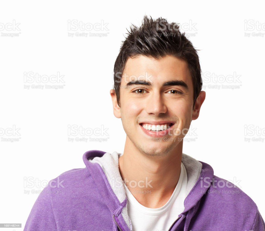 Teenage Boy With Spiky Hair royalty-free stock photo