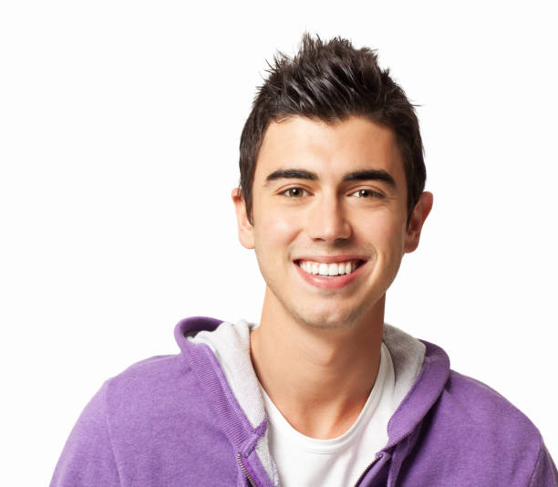 Teenage Boy With Spiky Hair stock photo
