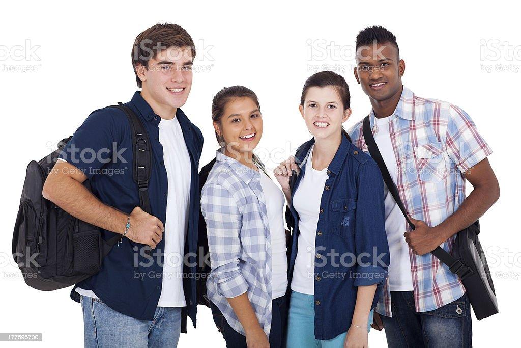 teenage boys and girls royalty-free stock photo