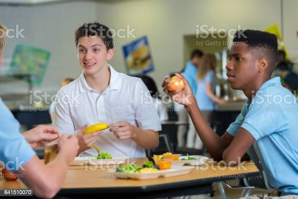 Teenage boys eat lunch in school cafeteria picture id641510070?b=1&k=6&m=641510070&s=612x612&h=uhh0svcweuzqdce1 xsem ozcj5s6mfuxwto kndhye=