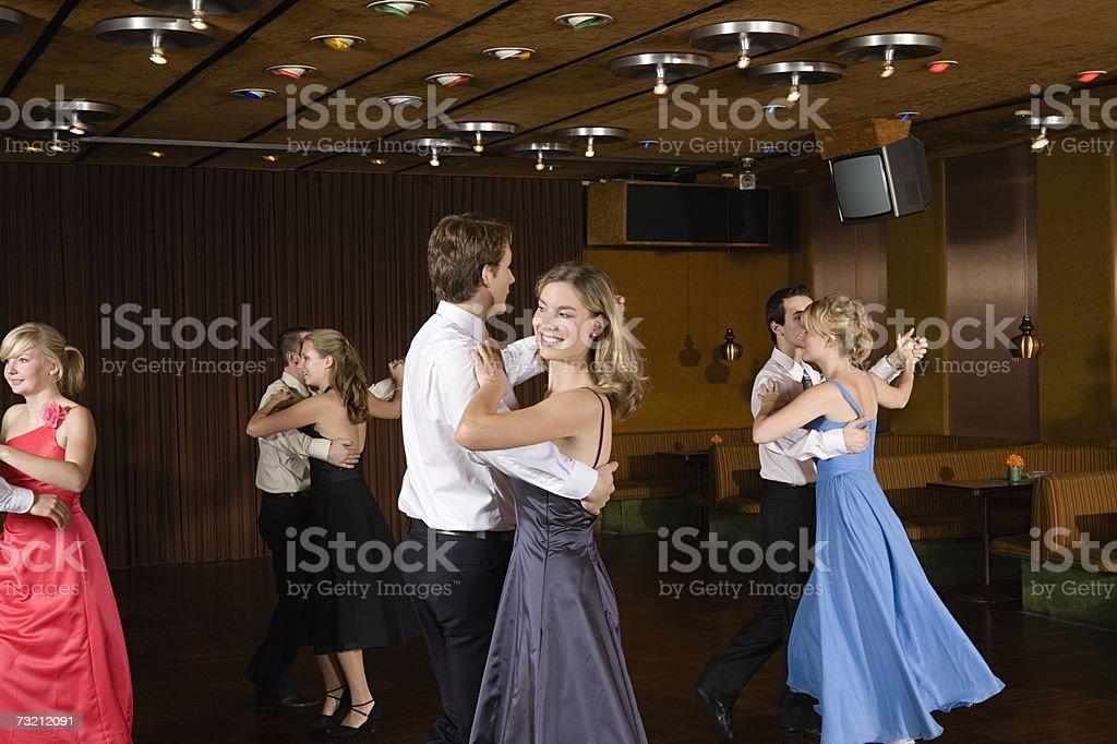 Teenage couple dancing stock photo