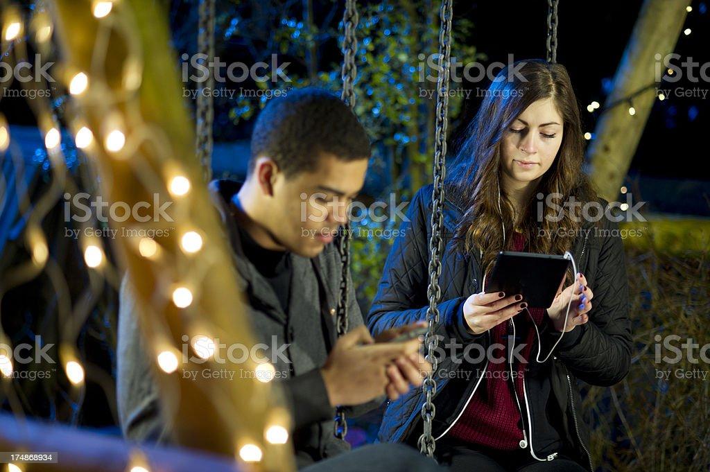 teenage couple royalty-free stock photo