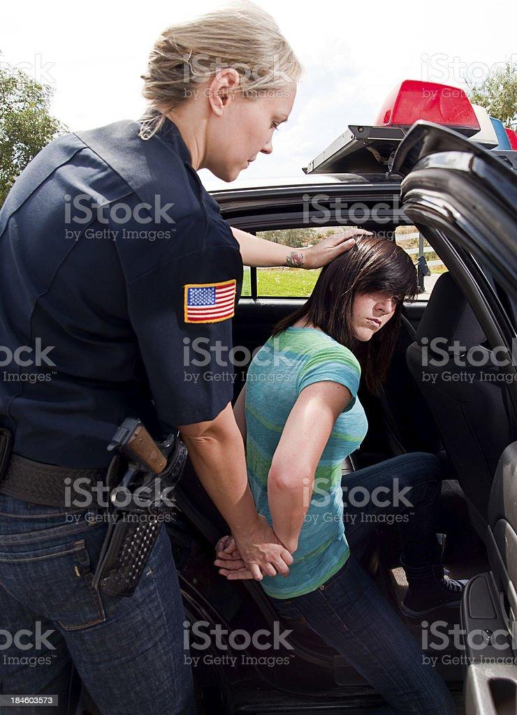 Teenage Criminal royalty-free stock photo