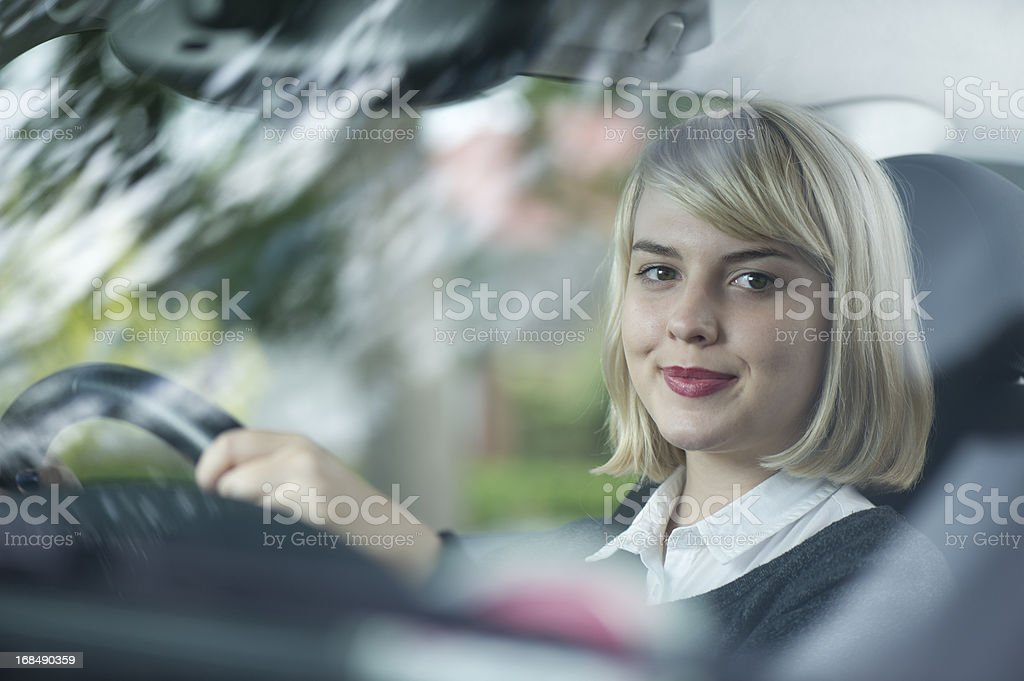 teenage driver royalty-free stock photo