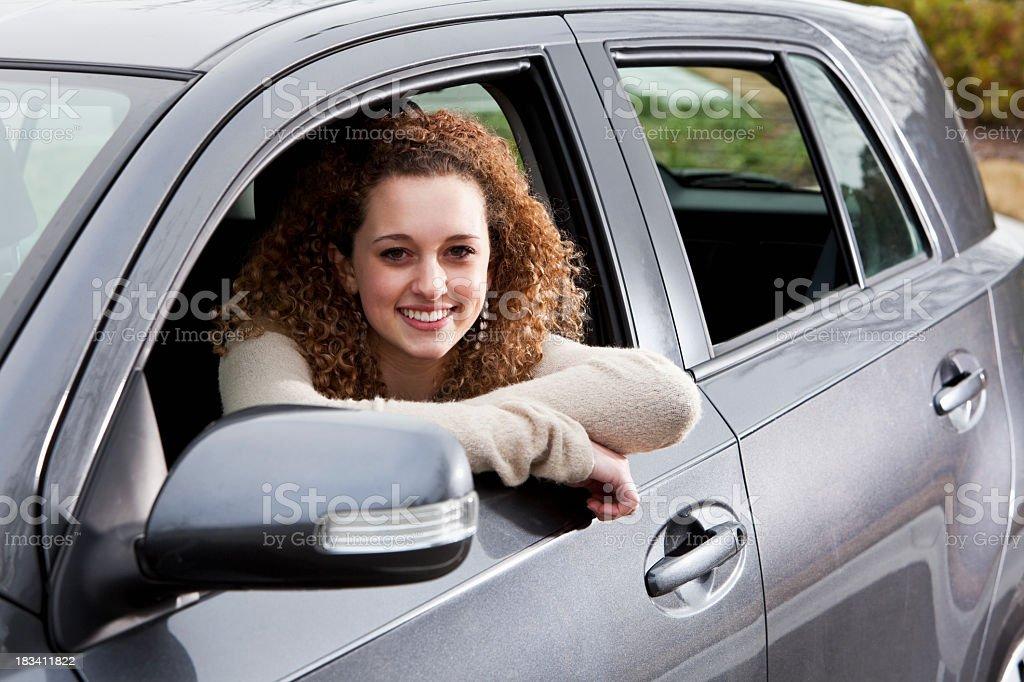 Teenage driver stock photo