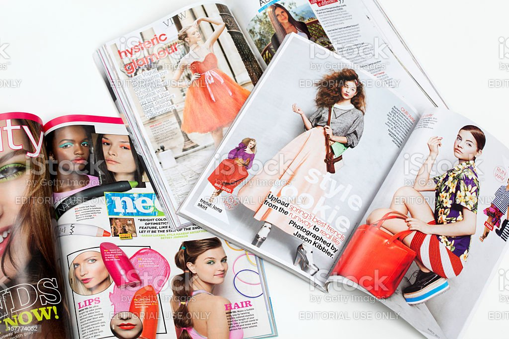 Teenage fashion magazines stock photo