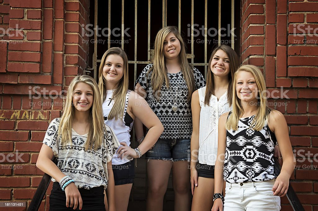 Teenage Friends Smiling royalty-free stock photo