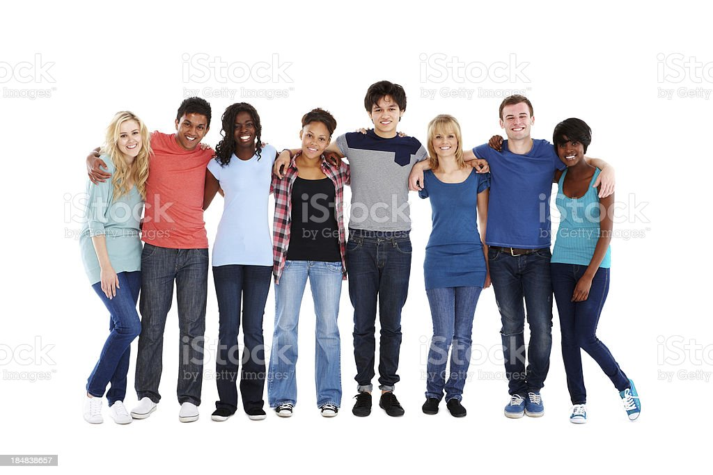 Teenage Friends Standing Together stock photo