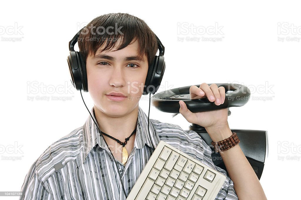 Teenage gamers royalty-free stock photo
