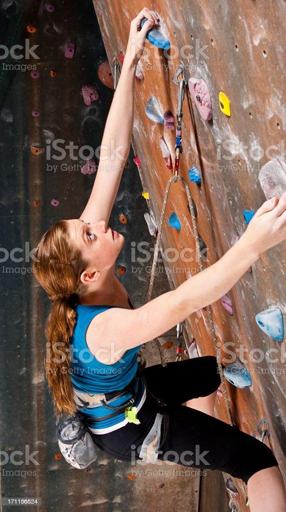 Teenage Girl Climbing royalty-free stock photo