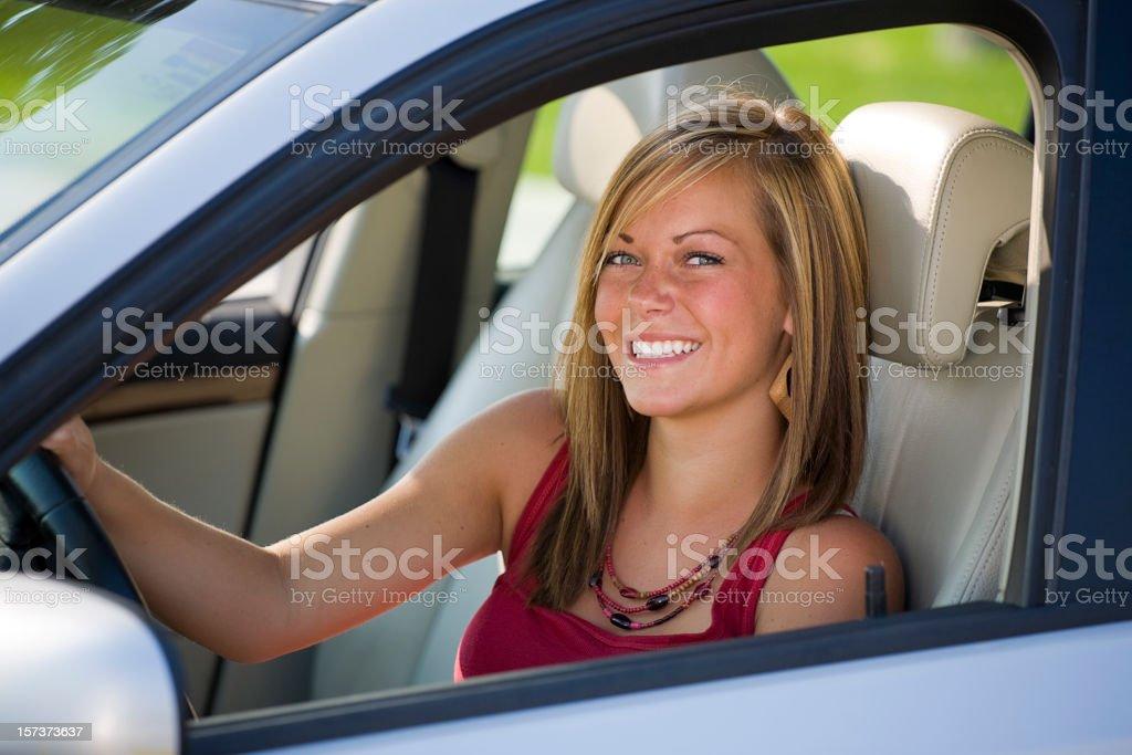 Teenage Girl Driver royalty-free stock photo