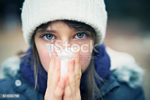 istock Teenage girl having autumn cold 624530756