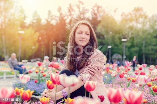 623358818 istock photo Teenage girl in the park 473445152