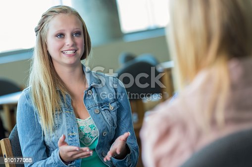 istock Teenage girl in therapy session 510177088