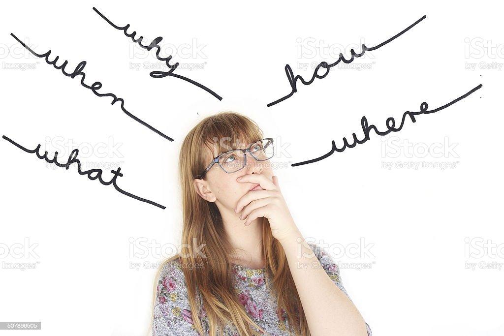 Mädchen Teenager- Wie Fragen Das Zu