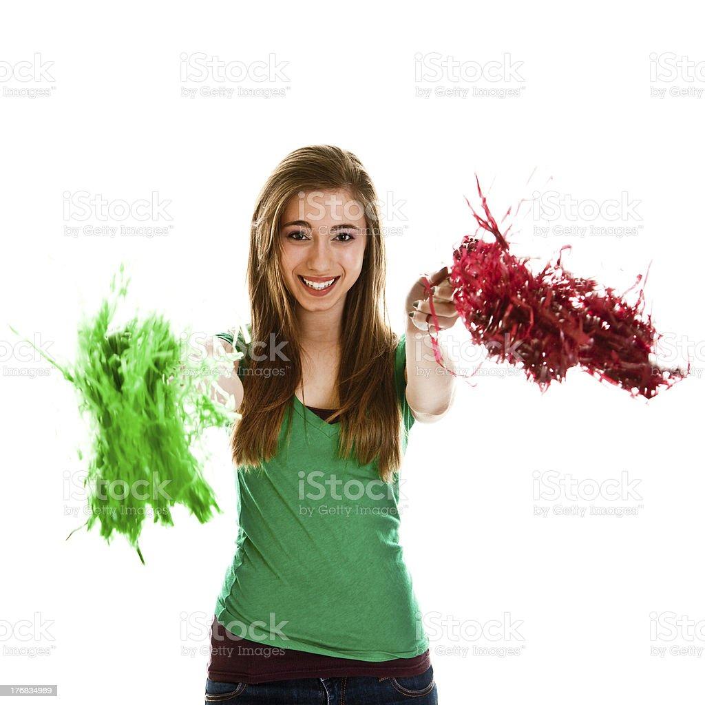 Teenage girl on white royalty-free stock photo