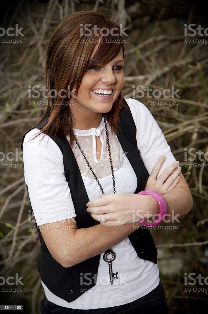 Portrait en plein air jeune fille photo libre de droits