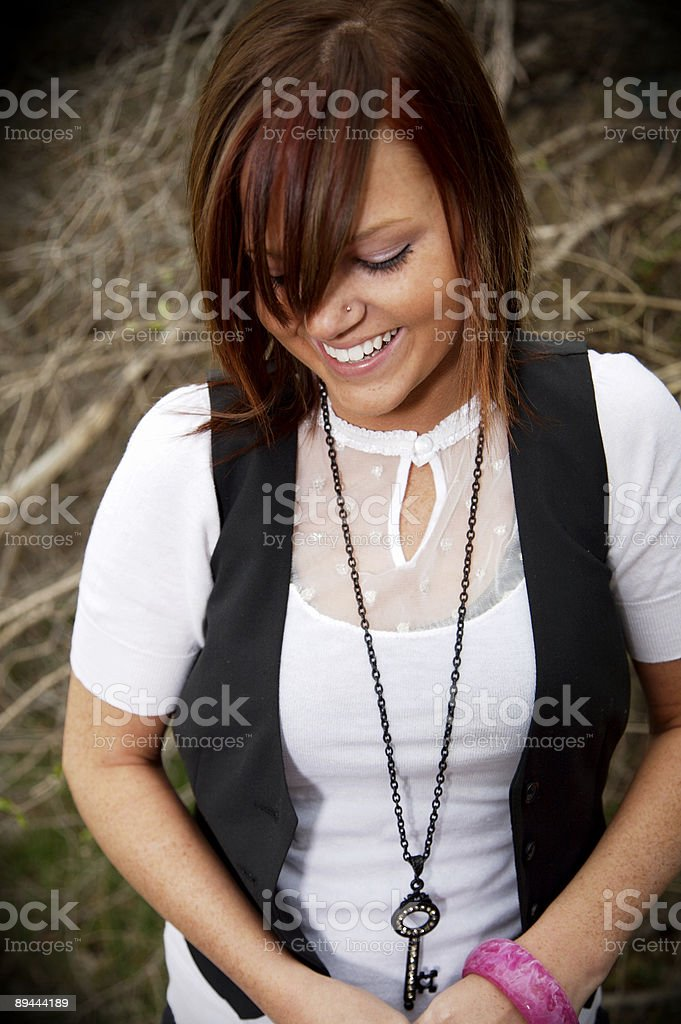 teenage girl outdoor portraits royalty-free stock photo