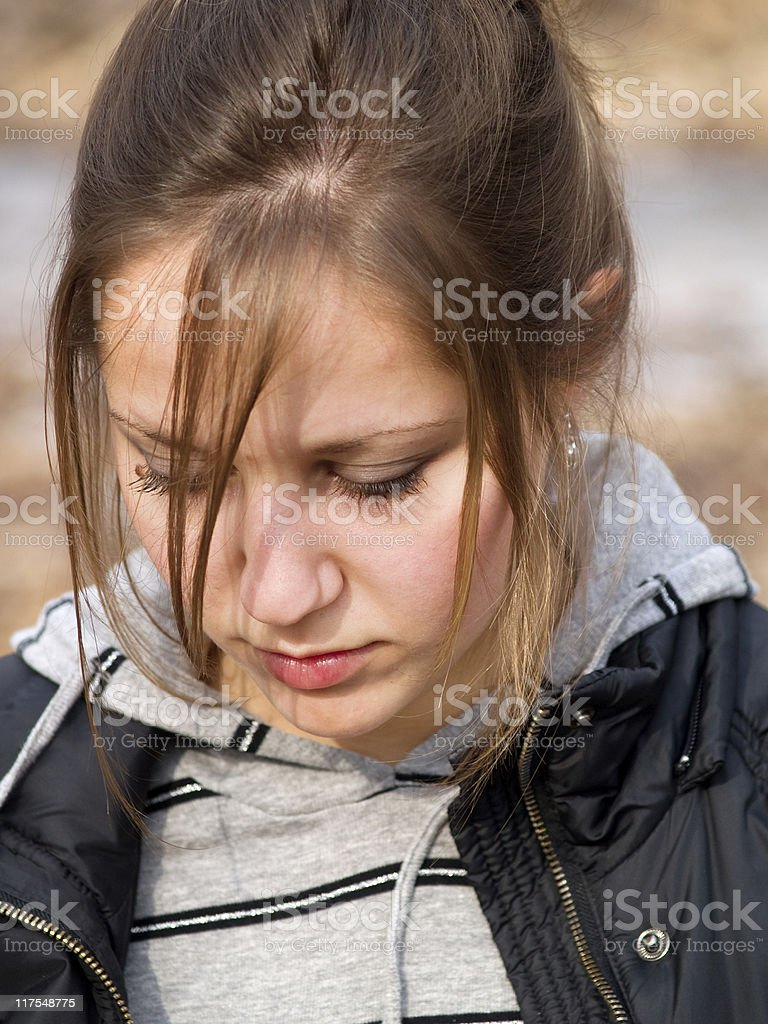 Teenage girl outdoors royalty-free stock photo
