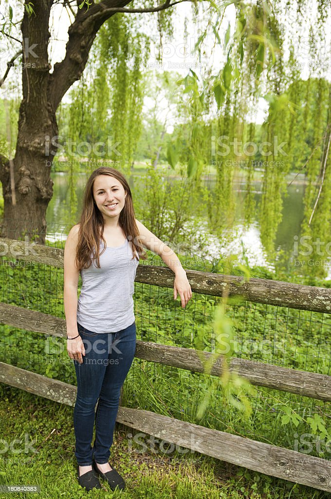 Teenage Girl Portrait royalty-free stock photo