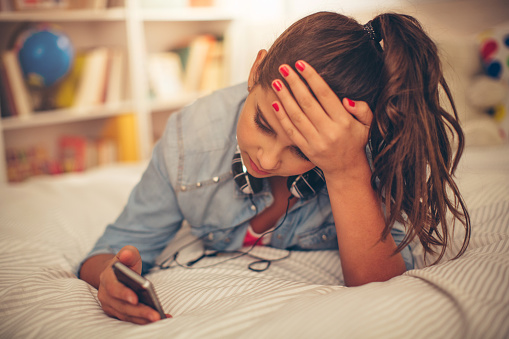 Teenage Girl Problems Stock Photo - Download Image Now