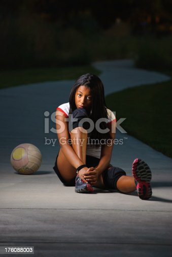 istock Teenage girl sad after loss of sport 176088003