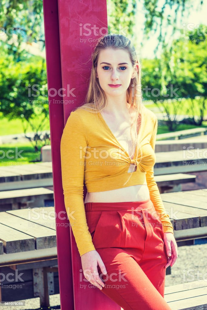 Teenage Girl Spring Fashion In New York Stock Photo Download Image Now Istock