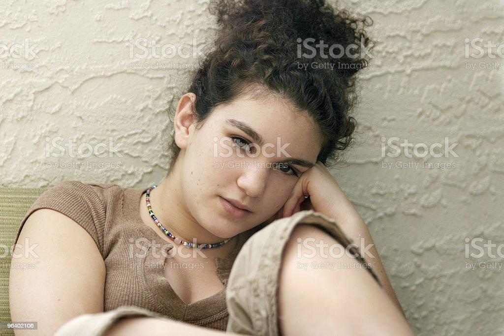Teenage girl thinking - Royalty-free Adolescence Stock Photo