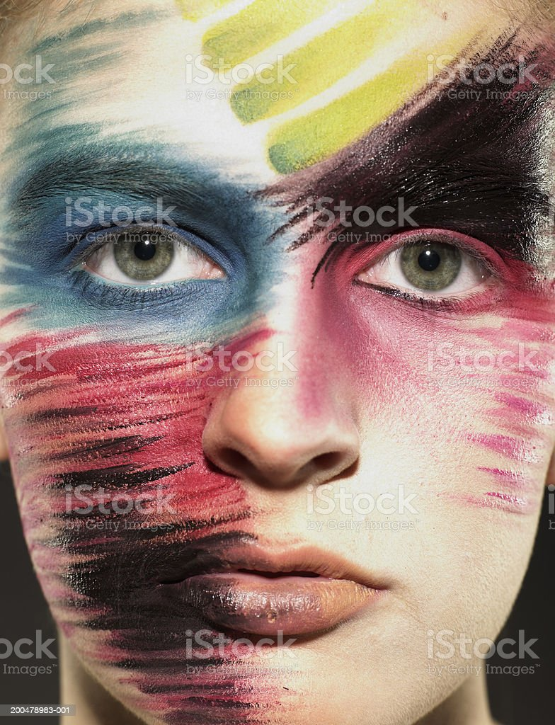 Teenage girl (15-17) wearing stage makeup, portrait, close-up royalty-free stock photo