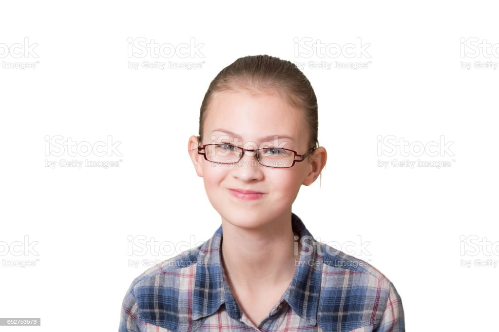 teenage girl with a funny expression on his face stock photo