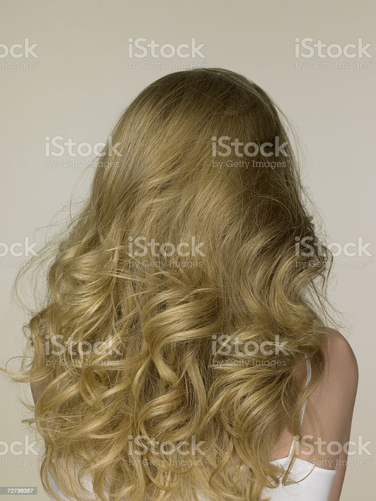 Teenage girl with blonde hair royalty-free stock photo