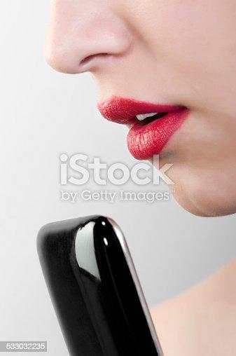 640046924 istock photo Teenage girl with mobile phone 533032235