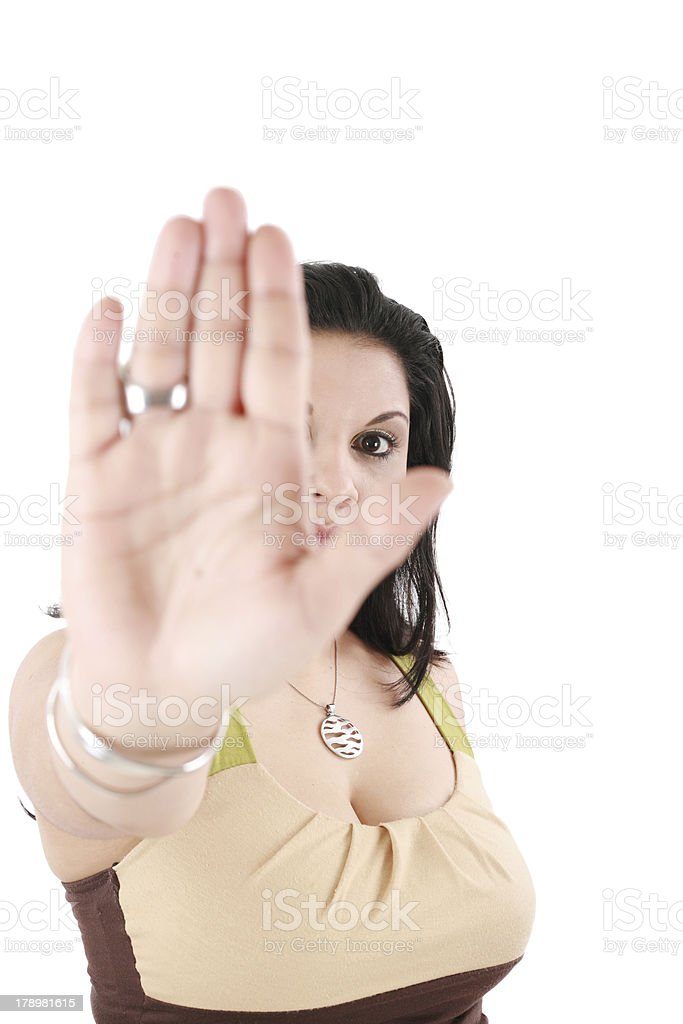 teenage girl with no gesture royalty-free stock photo