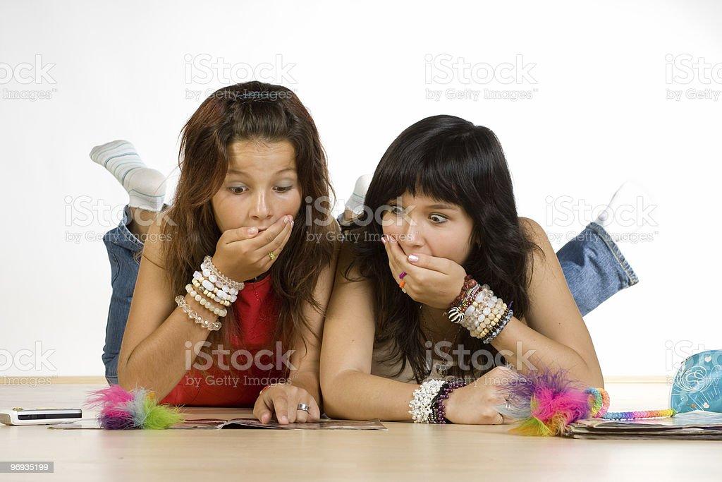 Teenage girls royalty-free stock photo