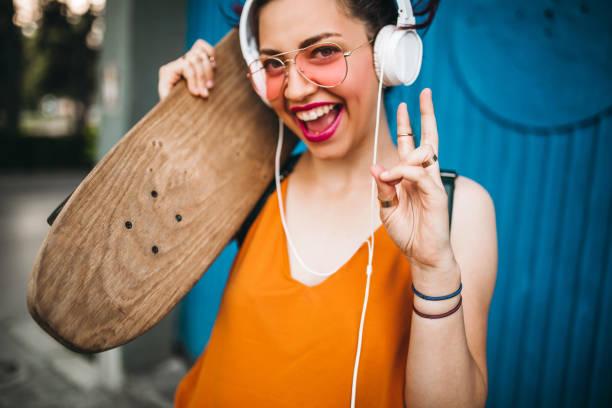 Teenage Hippie Mädchen – Foto