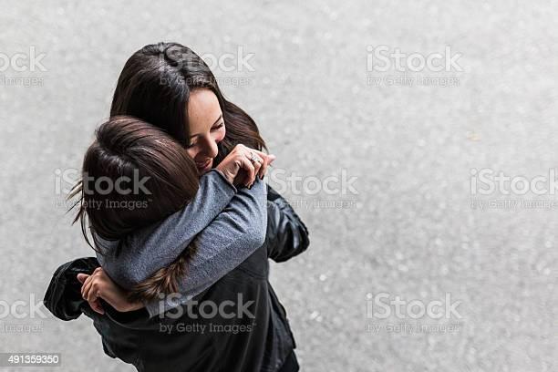 Teenage Hugging Stock Photo - Download Image Now