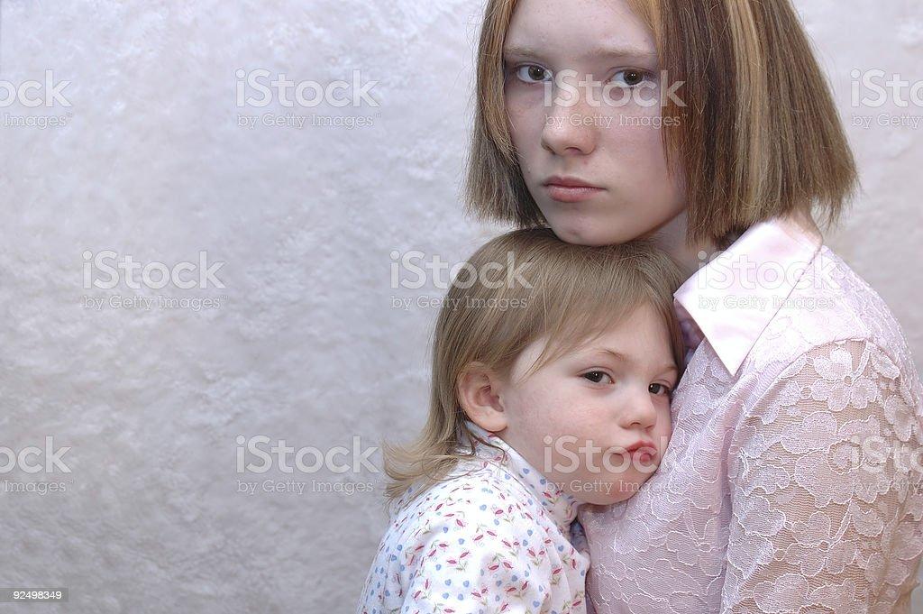 Teenage Mother royalty-free stock photo