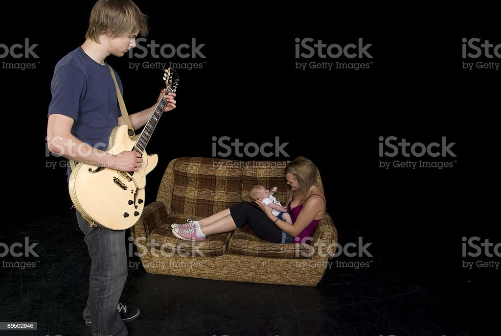 Teenage or young adult parents royalty-free stock photo