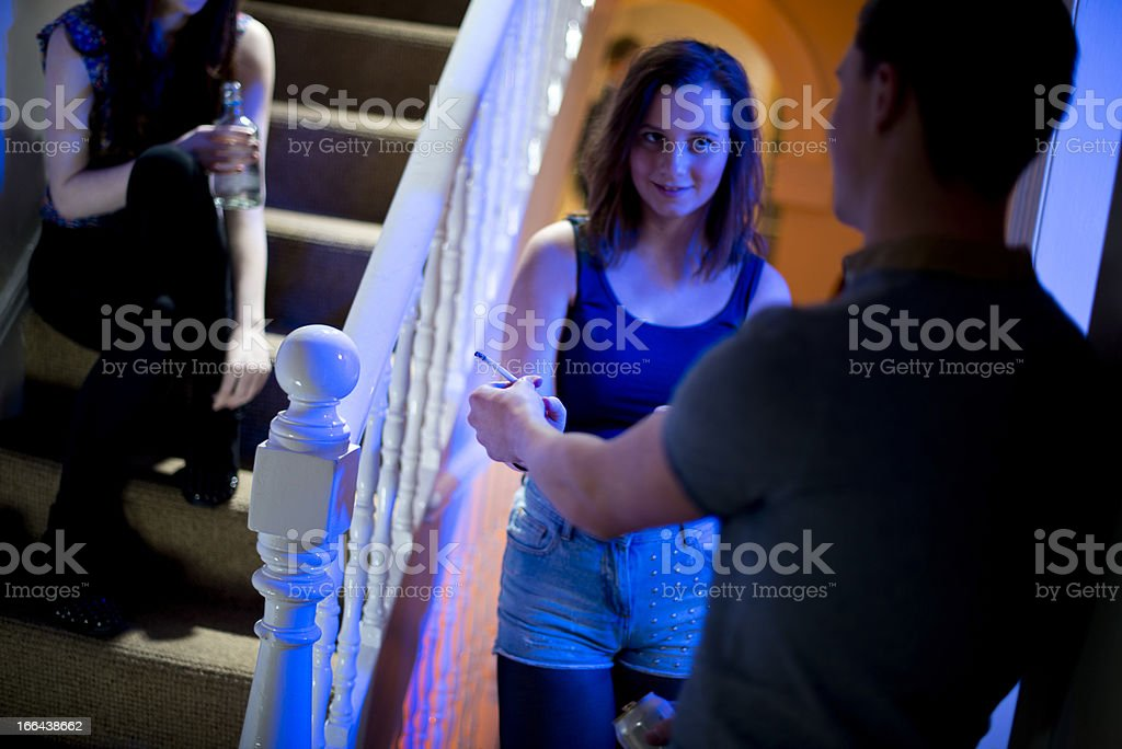 teenage pot and booze at a house party royalty-free stock photo