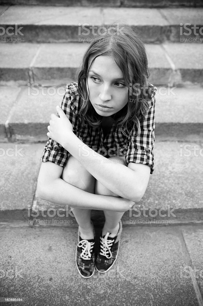 Teenage Problems royalty-free stock photo