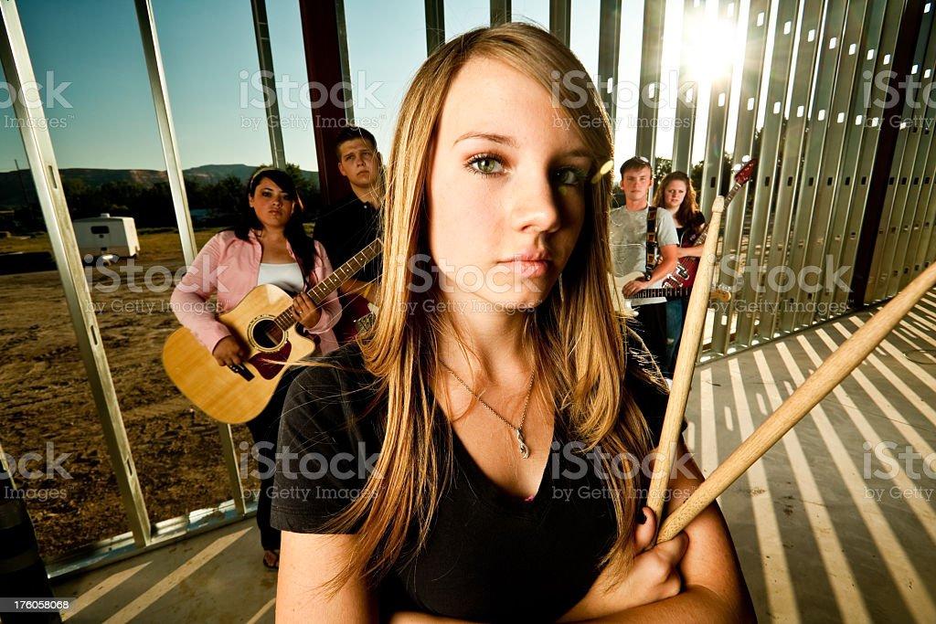 Teenage Rock Band royalty-free stock photo
