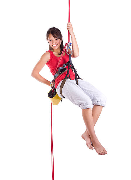 Teenage Rock Climber stock photo